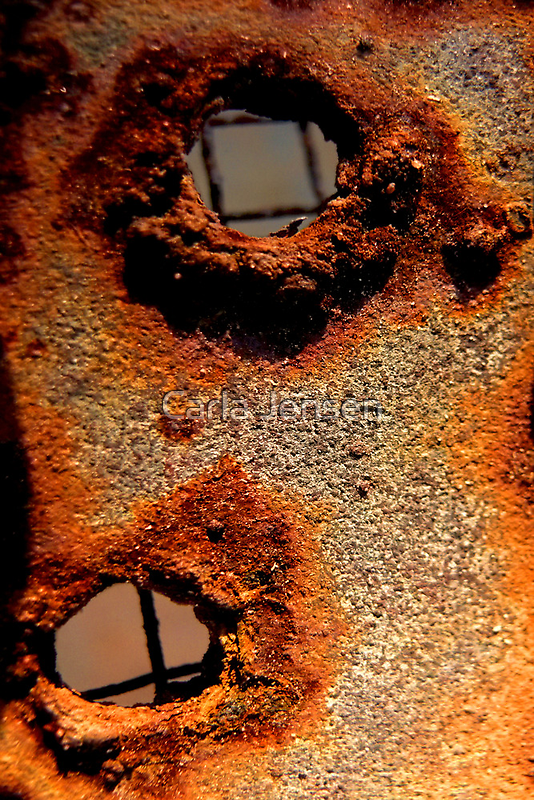 Rusty Abstract by Carla Jensen