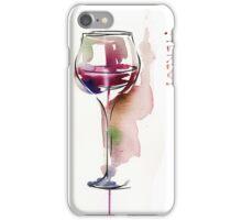 Red wine in glass iPhone Case/Skin