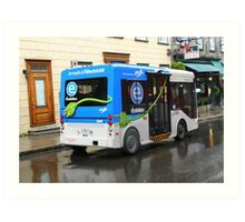 Electric Bus in Quebec City Art Print