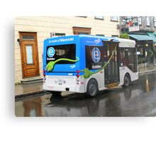 Electric Bus in Quebec City Metal Print