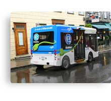 Electric Bus in Quebec City Canvas Print