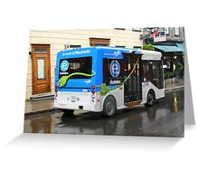 Electric Bus in Quebec City Greeting Card