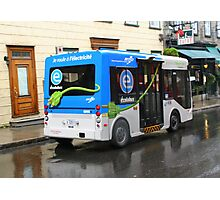 Electric Bus in Quebec City Photographic Print