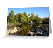Autumn on the River Lochy. Greeting Card
