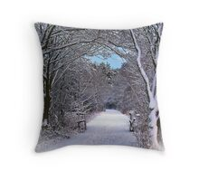 A Winter's Walk In Snowy Scotland. Throw Pillow
