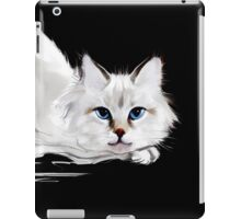 White and black cats iPad Case/Skin