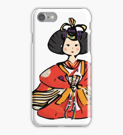Japanese Hina Doll (Plain Background) iPhone Case/Skin