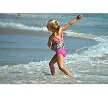 Playtime at the beach Photographic Print