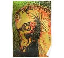 Ancient Persian Horse Head Poster