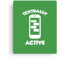 Textually Active Canvas Print