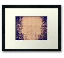 Mauve Skull Framed Print