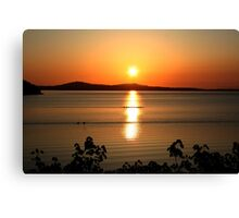 Sunrise over Mill Bay BC Canvas Print