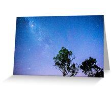 Stars over Lake Moogerah Greeting Card