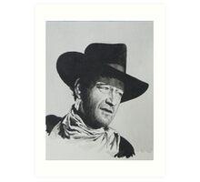John Wayne. Art Print