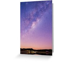 Stars over Lake Moogerah Greeting Card