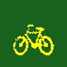 1 bit pixel bike (yellow) by Pekka Nikrus