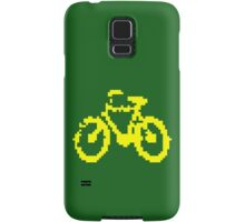 1 bit pixel bike (yellow) Samsung Galaxy Case/Skin