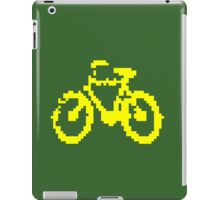 1 bit pixel bike (yellow) iPad Case/Skin