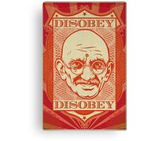 Mahatma Gandhi: Disobey Poster Canvas Print
