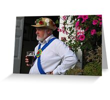A well earned pint!! Greeting Card