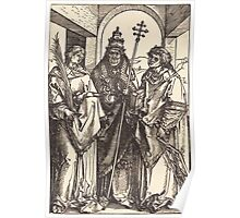 Albrecht Dürer or Durer Saints Stephen, Sixtus and Lawrence Poster
