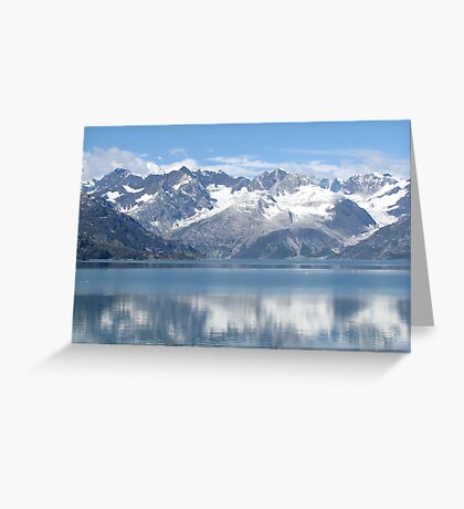 reflection of mountains Greeting Card