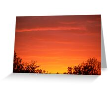 sunset by the woods Greeting Card