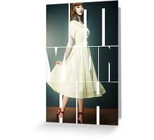 Girls' Generation (SNSD) Im Yoona 'Lion Heart' Greeting Card