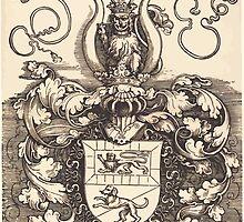 Albrecht Dürer or Durer Coat of Arms of Lorenz Staiber by wetdryvac