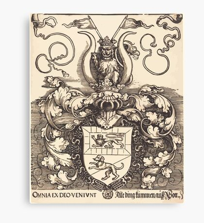 Albrecht Dürer or Durer Coat of Arms of Lorenz Staiber Canvas Print