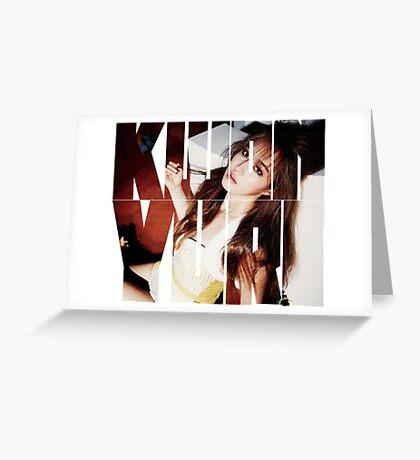 Girls' Generation (SNSD) Kwon Yuri 'Lion Heart' Greeting Card