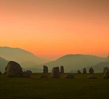 Morning at Castle Rigg Stone Circle, Near Keswick, Lakedistrict, England by David Fletcher