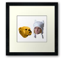 Adventure Time - Realistic Finn and Jake Framed Print