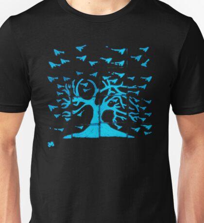 Glowing Bacterial Art - Bird Tree Unisex T-Shirt