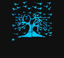 Glowing Bacterial Art - Bird Tree Unisex T-Shirt