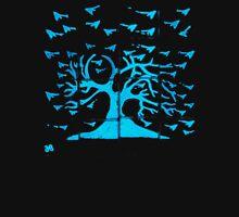 Glowing Bacterial Art - Bird Tree T-Shirt