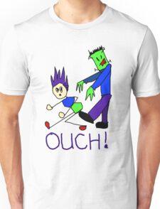 Frankenstein's Monster Kicks Butt Unisex T-Shirt