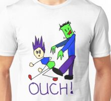 Frankenstein's Monster Kicks Butt Unisex T-Shirt