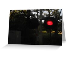 A little blurry train signal with no blurry backround Greeting Card