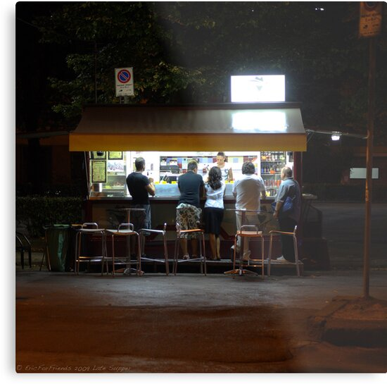 Late Supper - Florence by Eric Strijbos
