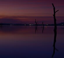 Darkness over Lake Hume by John Vandeven