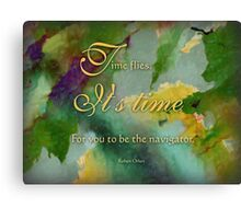 the navigator - wisdom saying no. 4 Canvas Print