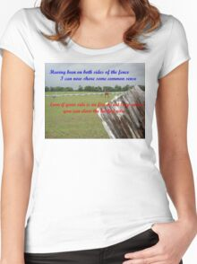 verse 1 of Quips & Ellipses Women's Fitted Scoop T-Shirt