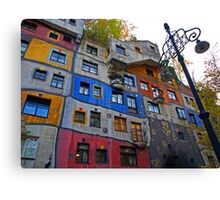 Hundertwasserhaus  ( Dr Seuss apartment ) Canvas Print
