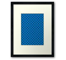 Polkadots Blue and Black Framed Print