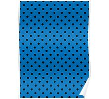 Polkadots Blue and Black Poster