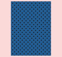 Polkadots Blue and Black Kids Tee