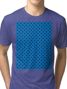 Polkadots Blue and Black Tri-blend T-Shirt