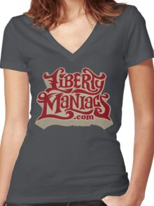 Liberty Maniacs Women's Fitted V-Neck T-Shirt