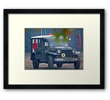 wwii Ambulance Framed Print